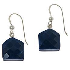 Jay King Sterling Silver Blue Opal Drop Earrings