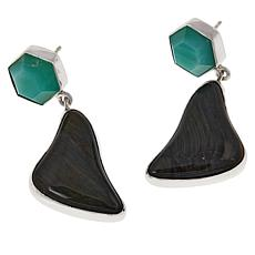 Jay King Sterling Silver Brockman Jasper and Chrysoprase Drop Earrings