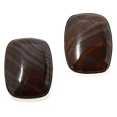 Jay King Sterling Silver Brown Dragon Stone Earrings