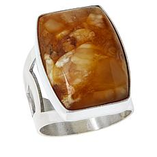 Jay King Sterling Silver Butterscotch Amber Ring