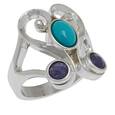 Jay King Sterling Silver Campitos Turquoise and Tanzanite Ring