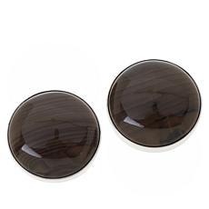 Jay King Sterling Silver Chestnut Stone Stud Earrings