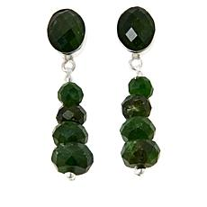 Jay King Sterling Silver Chrome Diopside Earrings