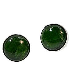 Jay King Sterling Silver Chrome Diopside Round Stud Earrings