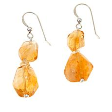 Jay King Sterling Silver Citrine Bead Drop Earrings