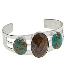 Jay King Sterling Silver Confetti Opal and Turquoise Cuff Bracelet
