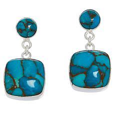 Jay King Sterling Silver Cushion-Cut Gemstone Drop Earrings