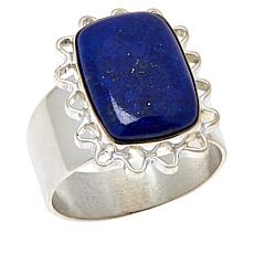 Jay King Sterling Silver Cushion-Cut Lapis Ring