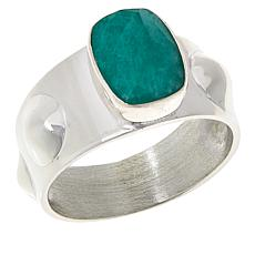 Jay King Sterling Silver Emerald Cushion Ring