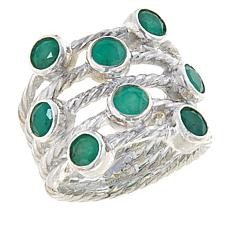 Jay King Sterling Silver Emerald Multi-Stone Ring
