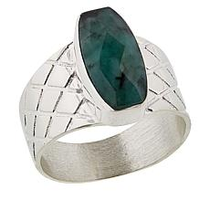Jay King Sterling Silver Emerald Ring
