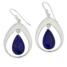 Jay King Sterling Silver Freeform Lapis Drop Earrings