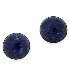 Jay King Sterling Silver Gemstone Button Earrings