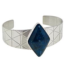 Jay King Sterling Silver Gemstone Diamond-Shaped Cuff Bracelet