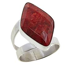 Jay King Sterling Silver Gemstone Diamond-Shaped Ring