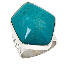 Jay King Sterling Silver Ginkgo Spruce Turquoise Ring