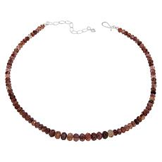 Jay King Sterling Silver Graduated Strawberry Quartz Bead Necklace