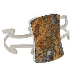 Jay King Sterling Silver Graveyard Point Chalcedony Cuff Bracelet