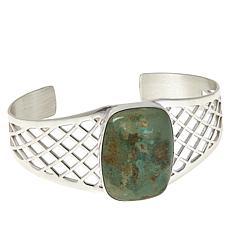 Jay King Sterling Silver Green Cedar Chalcosiderite Cuff Bracelet