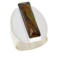 Jay King Sterling Silver Green Goddess Opal Ring