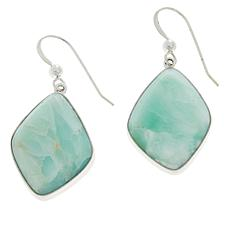 Jay King Sterling Silver Green Opal Drop Earrings