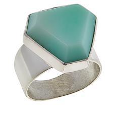 Jay King Sterling Silver Green Opal Freeform Ring