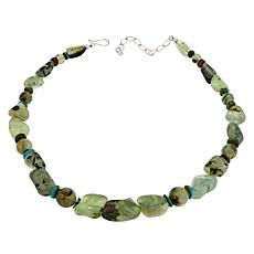 Jay King Sterling Silver Green Prehnite and Turquoise Necklace