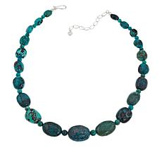 Jay King Sterling Silver Hubei Turquoise Bead Necklace