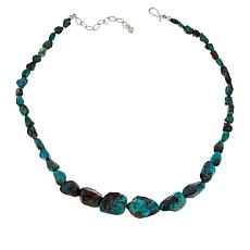 Jay King Sterling Silver Iron Mountain Turquoise Nugget Necklace