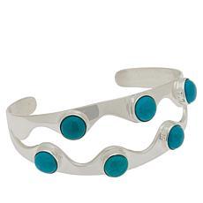 Jay King Sterling Silver Ithaca Peak Turquoise Cuff Bracelet