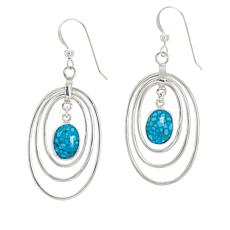 Jay King Sterling Silver Kingman Turquoise Drop Earrings