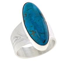 Jay King Sterling Silver Kingman Turquoise Elongated Oval Ring