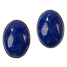 Jay King Sterling Silver Lapis Oval Earrings