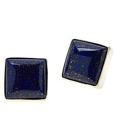 Jay King Sterling Silver Lapis Square Stud Earrings