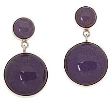Jay King Sterling Silver Lepidolite Drop Earrings