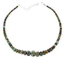 Jay King Sterling Silver Lone Mountain Turquoise Bead Necklace