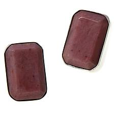 Jay King Sterling Silver Mauvewood Jasper Cushion-Cut Earrings