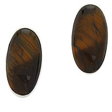 Jay King Sterling Silver Mt. Brockman Jasper Oval Earrings
