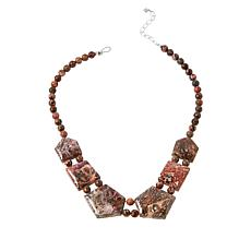 Jay King Sterling Silver Multi-Color Volcanic Quartzite Necklace