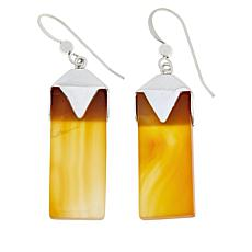 Jay King Sterling Silver Orange Carnelian Drop Earrings