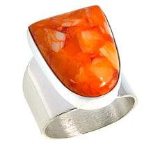Jay King Sterling Silver Orange Spiny Shell Ring