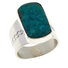 Jay King Sterling Silver Parrot Wing Stone Ring