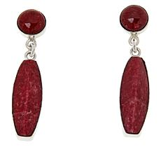Jay King Sterling Silver Pink Thulite Earrings