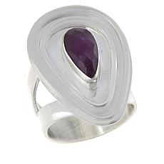 Jay King Sterling Silver Purple Sapphire Pear-Shape Ring