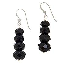 Jay King Sterling Silver Rainbow Obsidian Bead Drop Earrings