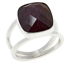 Jay King Sterling Silver Raspberry Sapphire Cushion-Cut Ring