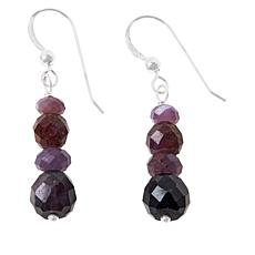 Jay King Sterling Silver Raspberry Sapphire Earrings