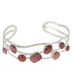 Jay King Sterling Silver Rhodochrosite Multi-Stone Cuff Bracelet