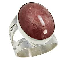 Jay King Sterling Silver Rhodochrosite Oval Ring