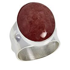Jay King Sterling Silver Rhodochrosite Oval Ring